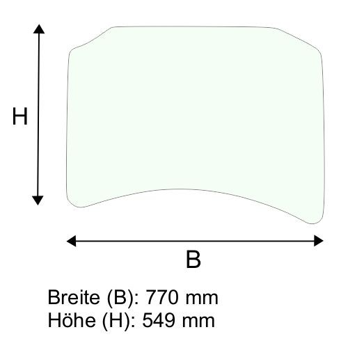 Dachscheibe für Linde E25 E30 BR 336-03 (3364379002)