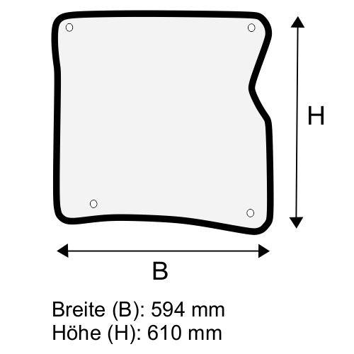 Dachscheibe für Linde H20 H25 BR 392-01 (3924308902)