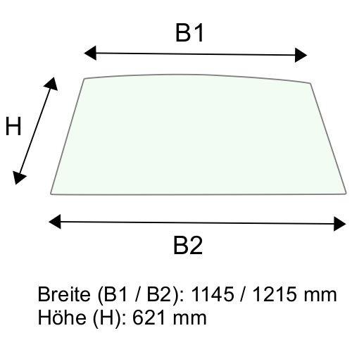 Dachscheibe für Linde H100 H120 H140 H150 BR 354 (3564379003)