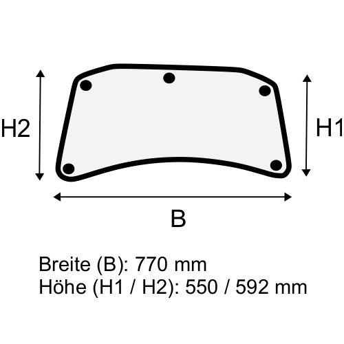 Dachscheibe für Linde E14 E16 E18 E20 BR 335-02 (3354308901)