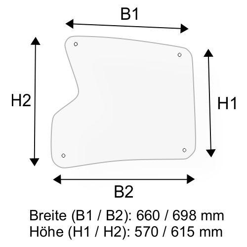 Dachscheibe für Linde H40 H45 H50 BR 394-02 (3944376305)