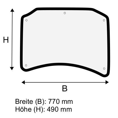Dachscheibe für Linde E14 E16 E18 E20 BR 335-02 (3354379001)