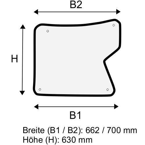 Dachscheibe für Linde H40 H45 H50 BR 394-02 (3944376300)