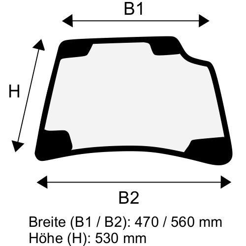 Dachscheibe für Linde E12 E14 E15 E16 E18 E20 BR 386 (3864376307)