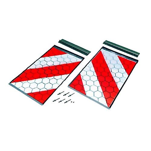Warnflaggen für Palfinger Palgate 400 x 250 mm