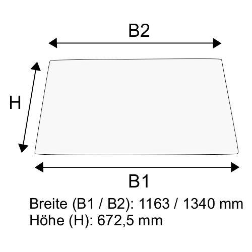 Dachscheibe für Linde H50 H60 H70 H80 BR 353-03 (3534379011)
