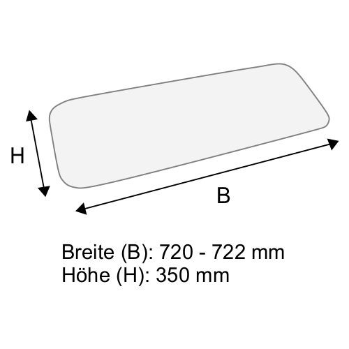 Dachscheibe für Linde H12 H16 BR 350-01/02 (3514379010)