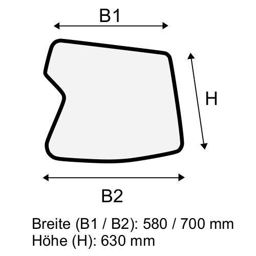 Dachscheibe für Linde H40 H45 H50 BR 394-02 (3944376308)